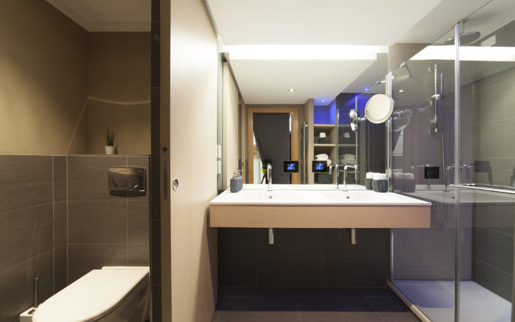 Bathroom in the Radisson Blu Resort